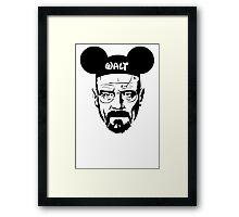Walter White Breaking Bad Framed Print