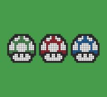 8Bit - Mario Mushrooms Kids Clothes