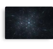 Galactic Convergence Canvas Print