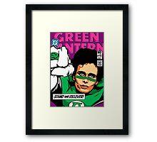 Post-Punk Super Friends - Green Framed Print