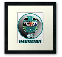 Lewis HAMILTON_2015_Helmet #44 /// SEPANG GP Framed Print