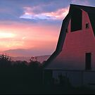 BARN,SUNRISE by Chuck Wickham