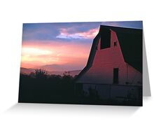 BARN,SUNRISE Greeting Card