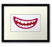 A toothy smile grin Framed Print