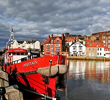 Reflections on the River Esk at Whitby, II by Christine Smith