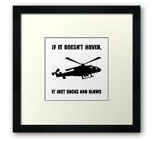 Helicopter Hover Framed Print