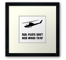 Helicopter Pilot Wings Framed Print