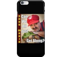 SexyMario MEME - Can We All Just Get Along? iPhone Case/Skin