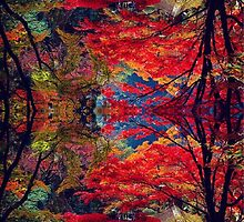 psychedelic trees by maddilaffyart