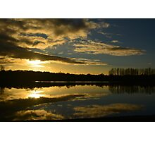 Sunset over Loch 3 Photographic Print