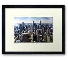 A Misty Morning in Chicago, Illinois, USA Framed Print
