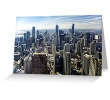 A Misty Morning in Chicago, Illinois, USA Greeting Card