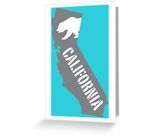California state bear flag illustration - grey Greeting Card