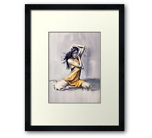 Sitting Dance Framed Print