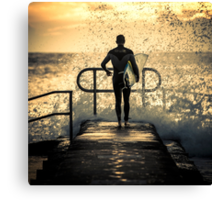 Hit the water Canvas Print