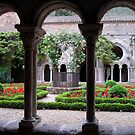 Fontfroide Abbey cloisters by triciamary
