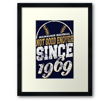 Milwaukee Baseball Framed Print