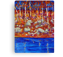 The Riverbank  Canvas Print