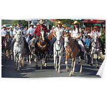 Tope - Horse Parade in Ciudad Colón, Costa Rica Poster