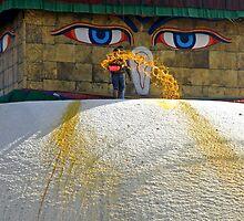 Special Moment ~ Bodhnath, Kathmandu, Nepal by Patty (Boyte) Van Hoff