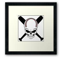 Baseball Jolly Roger Framed Print