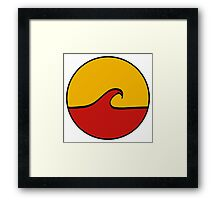 Minimal Wave - Red/Yellow Framed Print