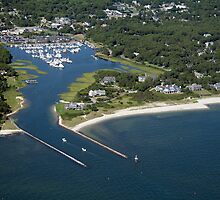 Saquatucket Harbor Aerial Photo (Harwich, Cape Cod) by Christopher Seufert