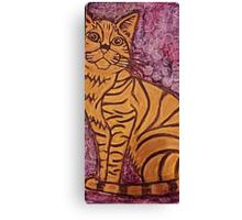 Watercolor Cat Canvas Print