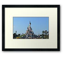 Disneyland Paris Castle Framed Print