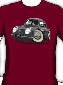 VW Beetle type 1 grey caricature T-Shirt