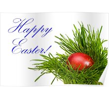 Red Easter Egg - Happy Easter Poster