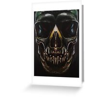 Slightly Frowning Skull Greeting Card