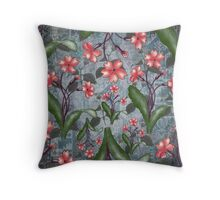 flower and background Throw Pillow