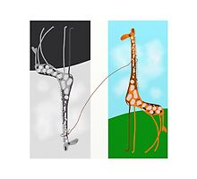 Giraffe art, modern, gifts, decor by ackelly4