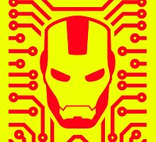 Iron Pattern (Red) by DemonigoteTees