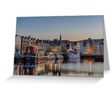 Twilight down at the Shore, Edinburgh Greeting Card