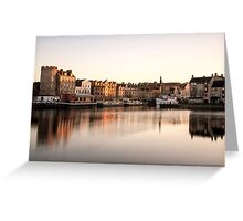 Long Exposure Sunset: The Shore, Edinburgh Greeting Card