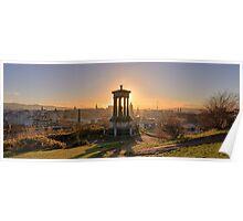 Sun Setting over Edinburgh Poster