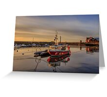 Newhaven Fishing Boat and Lighthouse Greeting Card