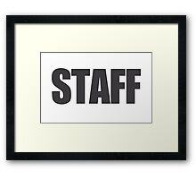 Staff Framed Print
