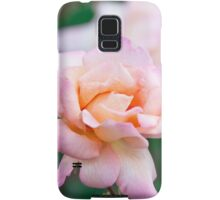 Pink/Apricot Rose Flower Blooms Samsung Galaxy Case/Skin