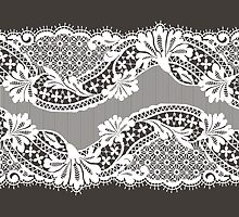 White lace ribbon. by Laces