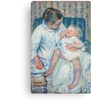 Mary Cassatt - Mother About to Wash Her Sleepy Child Canvas Print