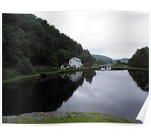 Lock Keeper's Cottage on the Crinan Canal Poster