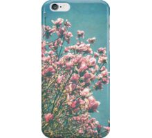 Pink Magnolia Blooms iPhone Case/Skin