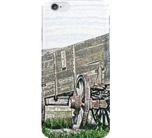 Abandoned Wooden Wagon in a Field iPhone Case/Skin