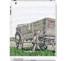 Abandoned Wooden Wagon in a Field iPad Case/Skin