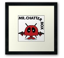 Deadpool - Mr Chatterbox Framed Print