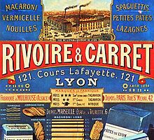 Rivoire & Carret Vintage French Pasta Poster by 45thAveArtCo