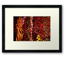Spicy colors Framed Print